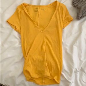 Yellow urban outfitters v-neck